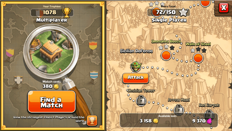 Clash of Clans - Find a Match