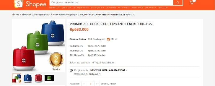 shopee-rice-cooker-phillips-hd-3127