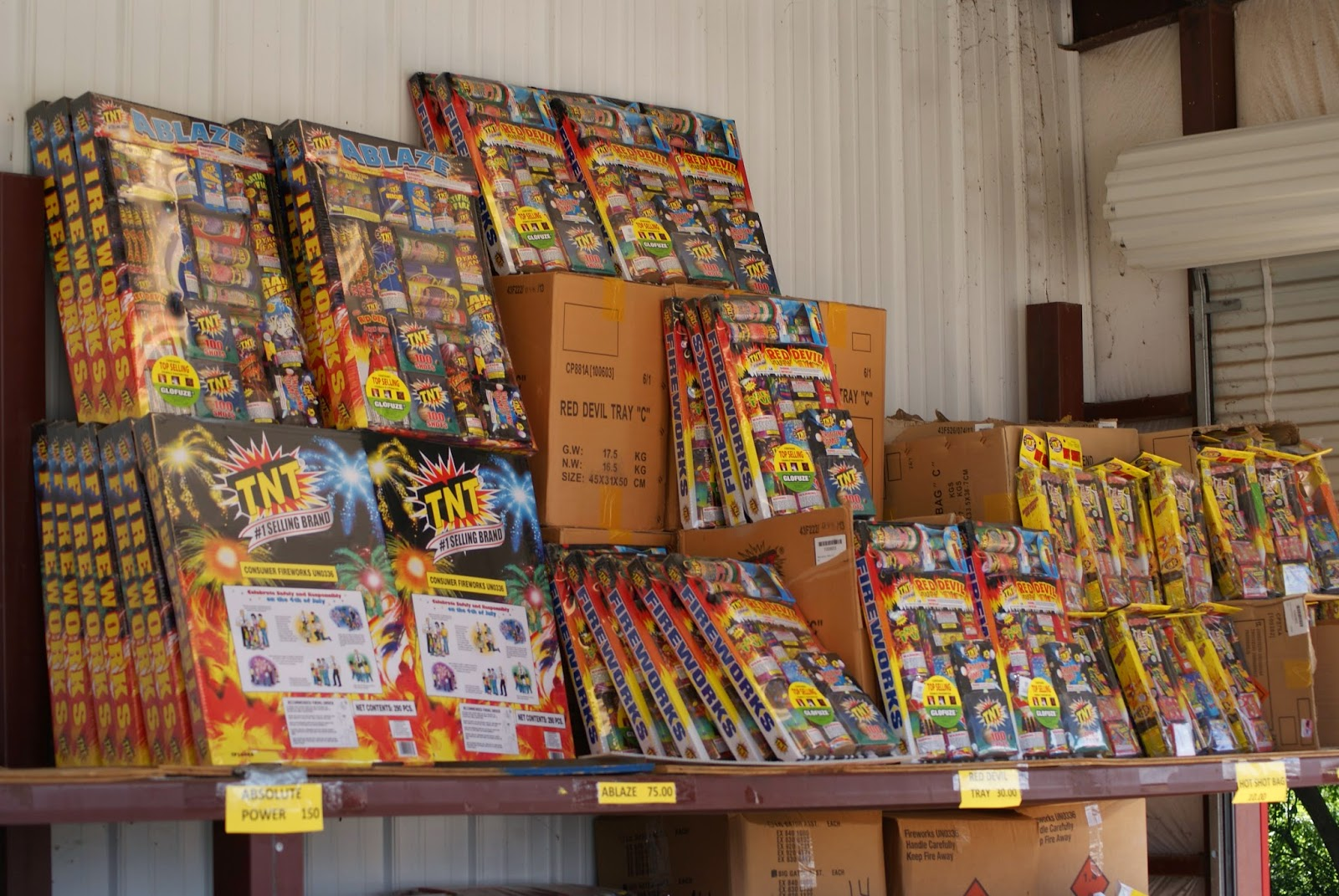Firework Packs at Olson's Fireworks Alexandria Louisiana