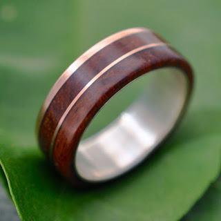 wood and metal wedding band