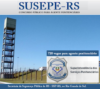 edital Concurso Susepe - RS 2017.