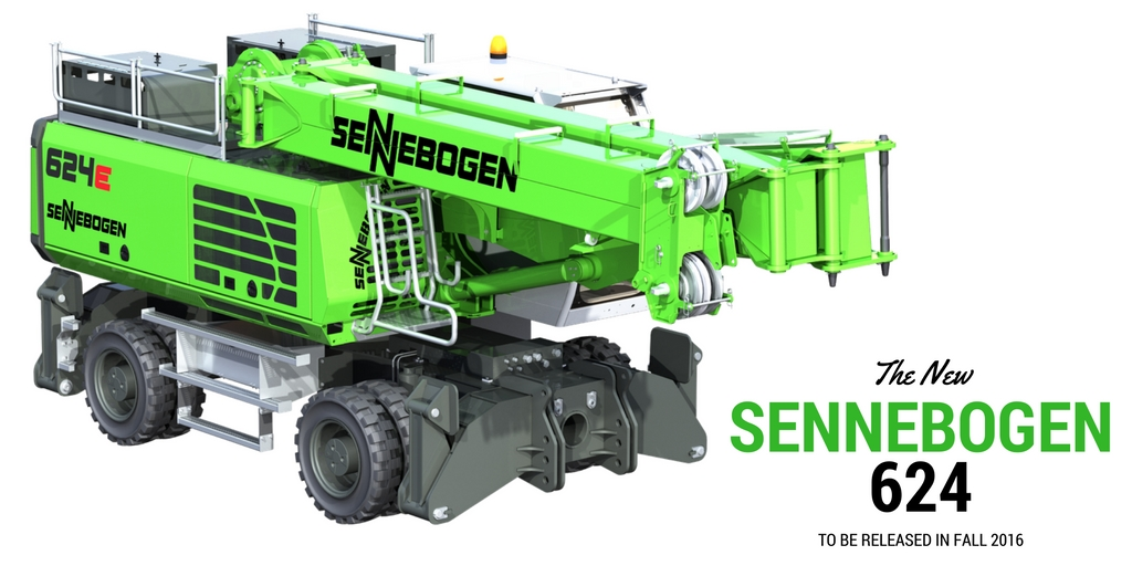 Sennbogen 624 on the tires and outriggers undercarriage
