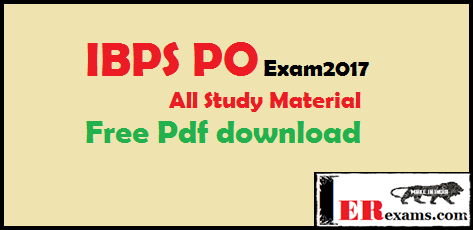 IBPS PO Exam All Study Material Free Pdf download, Free Pdf study material for Bank PO, IBPS, SBI, RBI free pdf download,  IBPS, IBPS conduct Clerk, PO, RRB any other bank exam Study Material Free Pdf