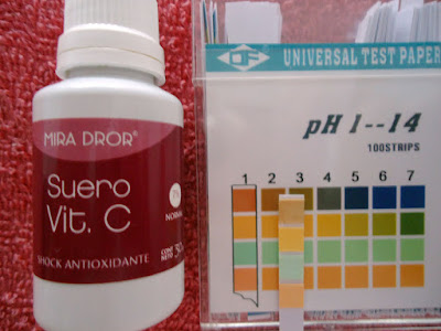 pH de Suero de Vitamina C para piel normal 7% de Mira Dror