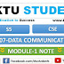 CS307 Data Communication Module-1 Note | S5 CSE