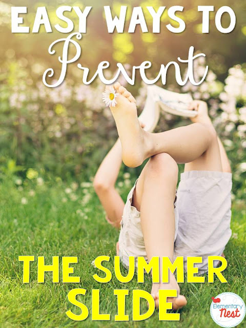 three ways to prevent the summer slide- with a FREEBIE to send home to parents- three ways that teachers can help parents and students over the summer keep their past year's knowledge fresh in their minds.