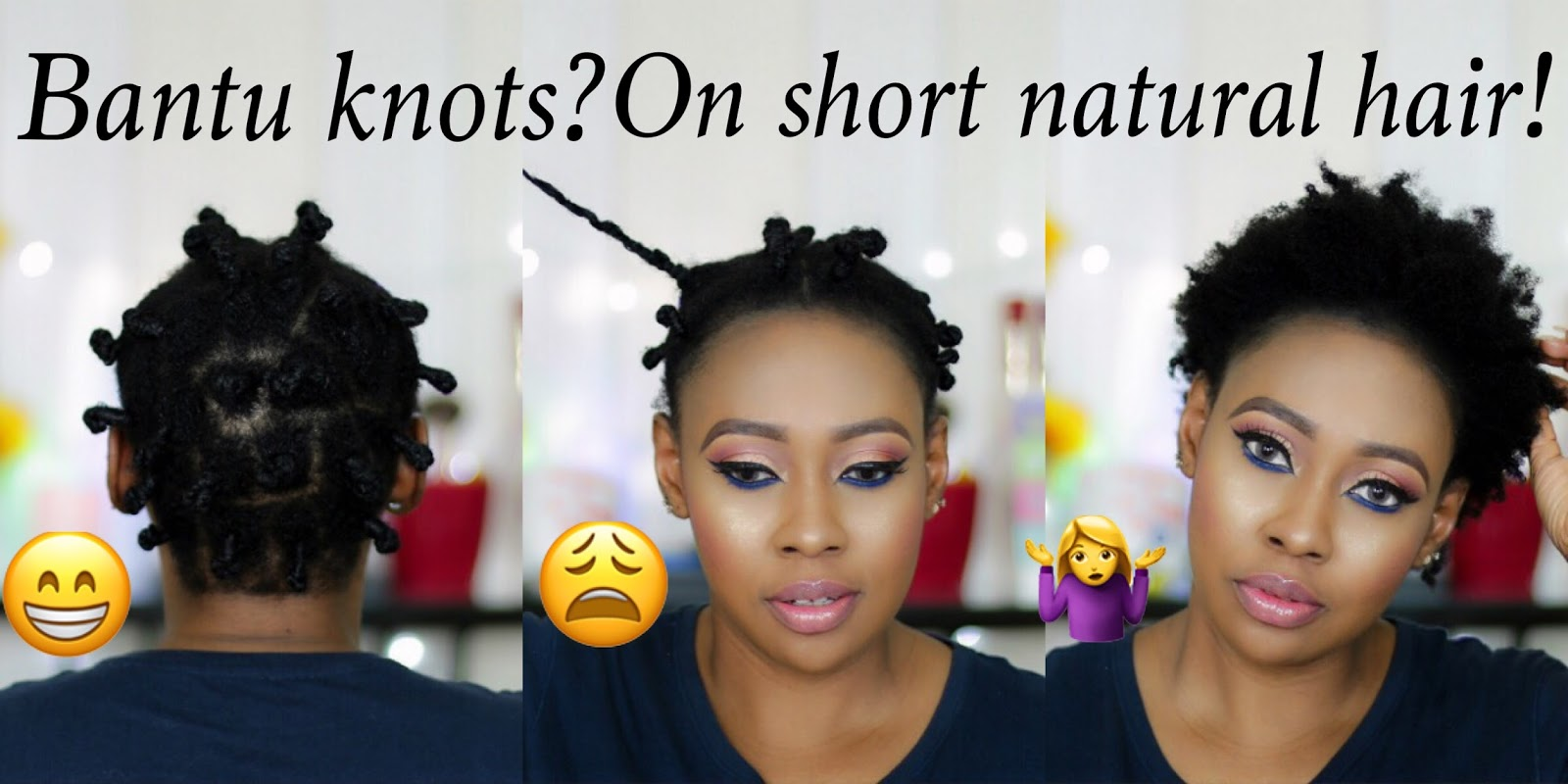 Bantu knots on short natural hair chloes makeover bantu knots on short natural hair thecheapjerseys Image collections