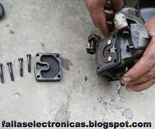 como desarmar la parte mecanica de un compresor