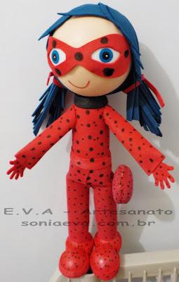 Boneca Ladybug em E.V.A