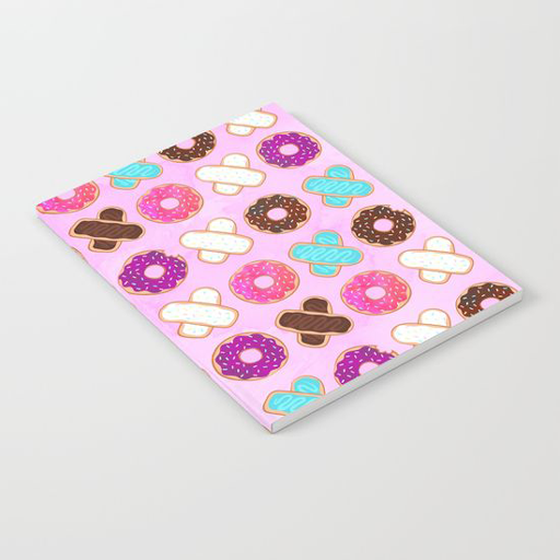 XOXO Donuts Notebook - Erin Clark - Inked in Red