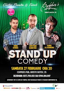 Stand-Up Comedy Sambata 27 Februarie Bucuresti