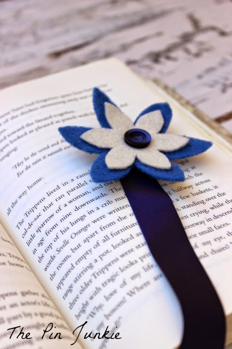 Ribbon and Felt Flower Bookmark