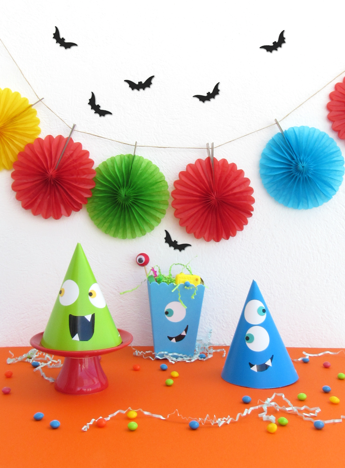 Valentina Vaguada: birthday party, cute monsters, color, halloween, not so scary, colorfull birthday, birthday idea, kids party
