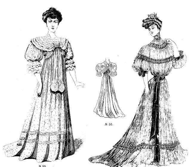девушки в старинных платьях