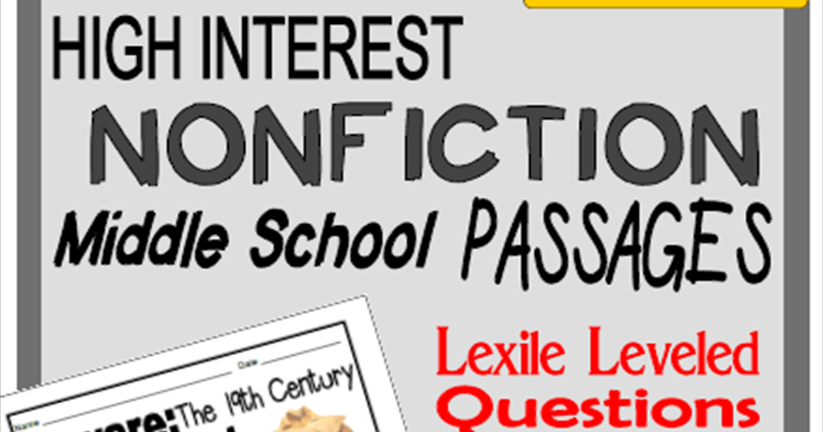Literacy & Math Ideas: High-Interest Nonfiction Middle ...
