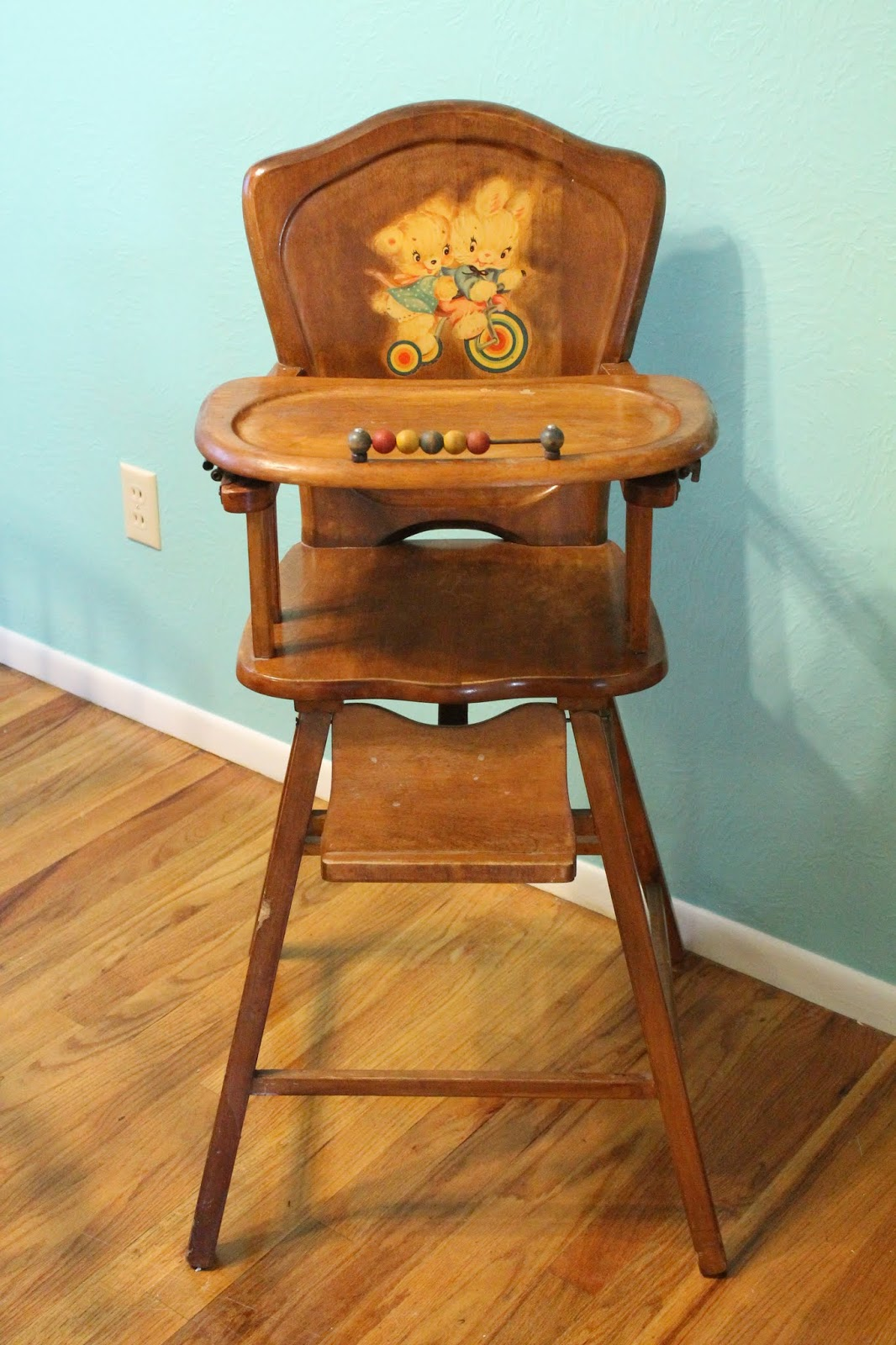 Formerly Modern Vintage Wooden High Chair