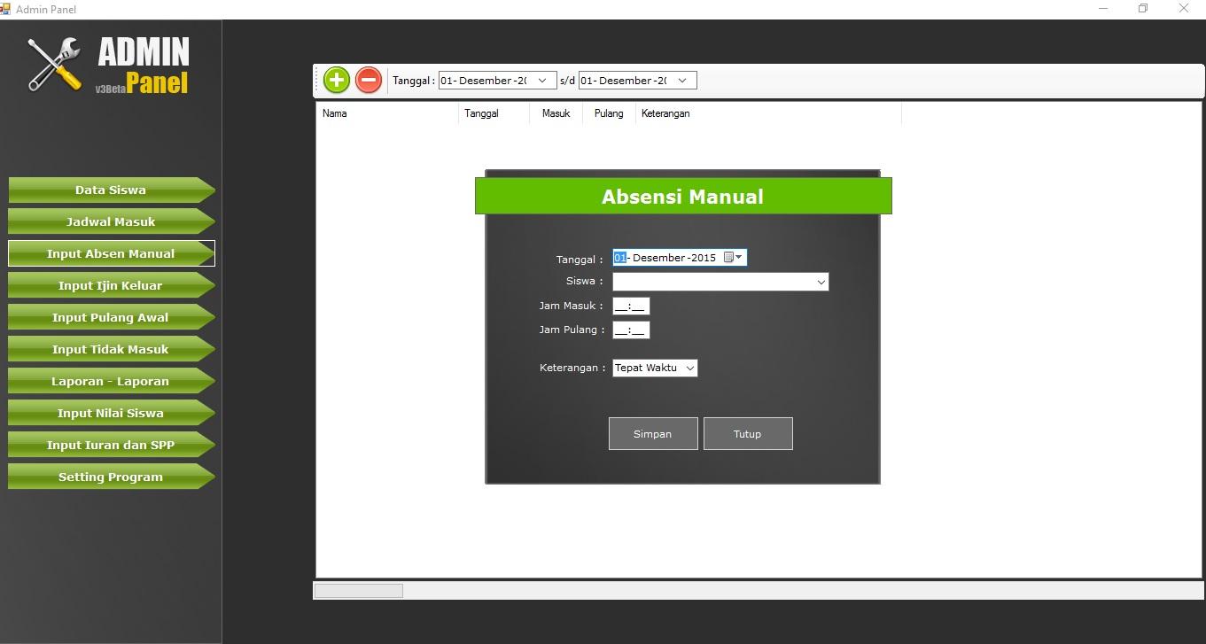 Toko Elkha Bisnis 2016 Aplikasi Software Qlast Antrian V4 Unlimited Aktivasi Registrasi Bisa Custom Sampai 12 Jenis Pelayanan 4 42 Absensi Siswa Full Edition Rp500000