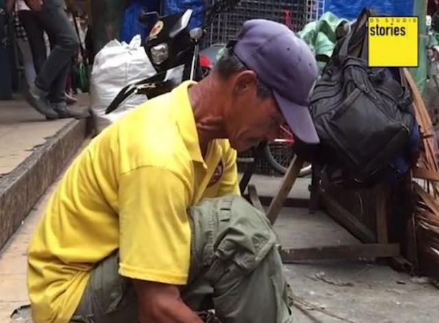 'Itong trabaho kung ito' ito ang ibinubuhay ko sa mga anak ko' - 63-Year-Old Man Is Proud Of Serving The Government By Cleaning Canals!