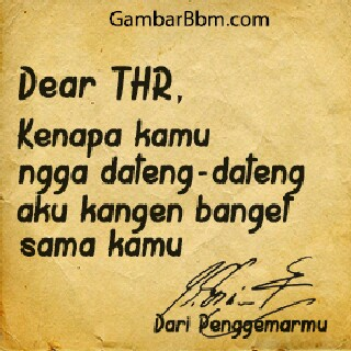 dp bbm thr lucu surat buat thr