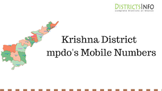 Krishna District  mpdo's Mobile Numbers
