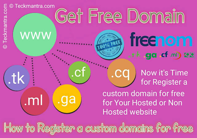 How to register and get a custom domain for free