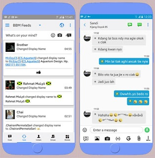BBM Mod Iphone Style IOS Versi APK+DATA v3.2.5.12