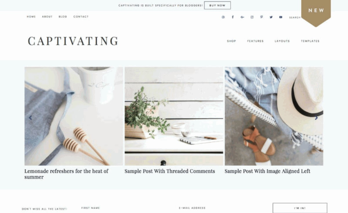 Blog theme from Restored 316 Designs
