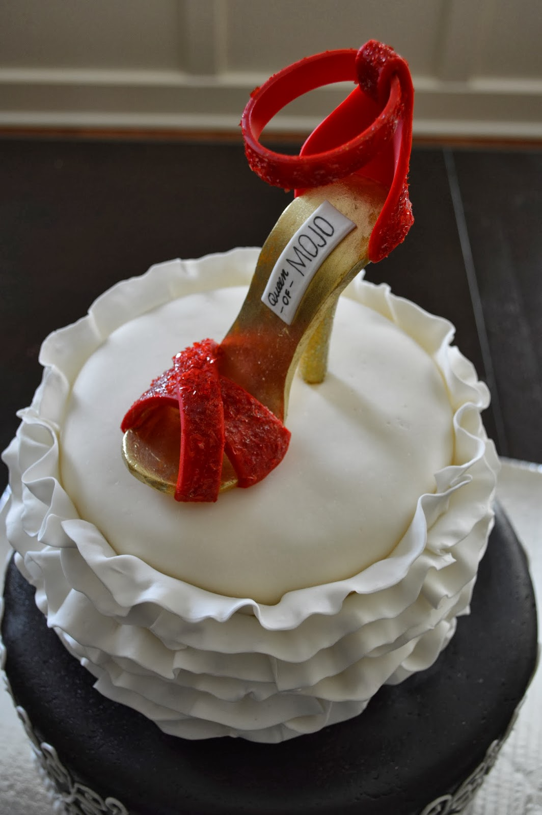 Cake Geniuses Black White And Red Shoe Cake