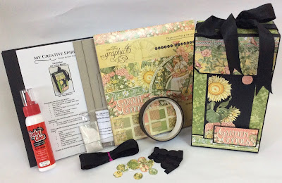 Tall Tag Album Kit fo the Month Garden Goddess Graphic 45
