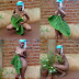 VIRAL: Lady posing fully naked with only broad leaves covering her private parts