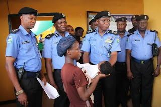 See the Female Child Trafficking Syndicate Busted in Abia State (Photos)