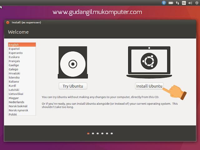 Cara Instal Ubuntu 16.04 Lengkap Dengan Gambar