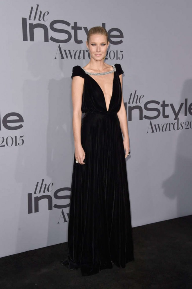 Gwyneth Paltrow in a plunging gown at the InStyle Awards 2015