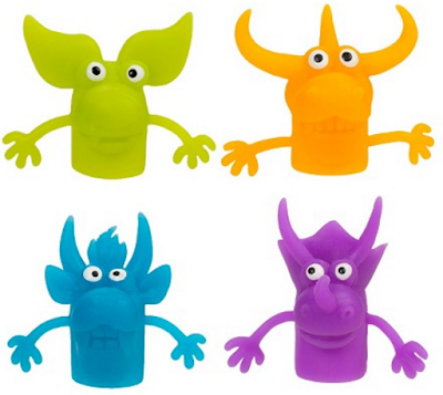 Use finger puppets to help students learn to track print during guided reading groups.
