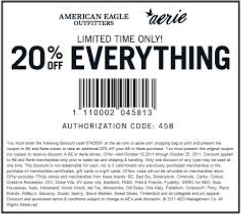 american eagle coupon codes march 2014