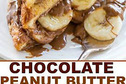 Chocolate Peanut Butter and Banana French Toast