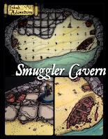 Inked Adventures Smuggler Cavern link to DriveThruRPG