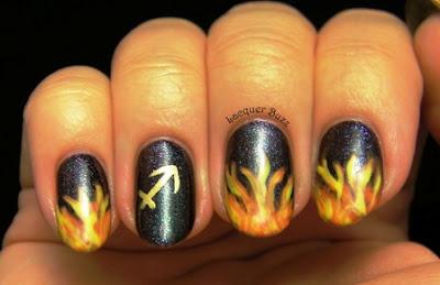 SAGITTARIUS nail art design trend 2017