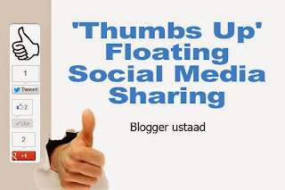 Stylish thumbs up social sharing buttons for blogger