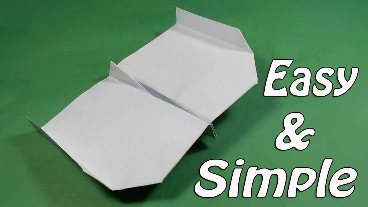 Easy Paper Airplane For Kids How To Make A That