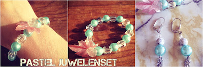 Handmade jewelry sweet colors bracelet earrings