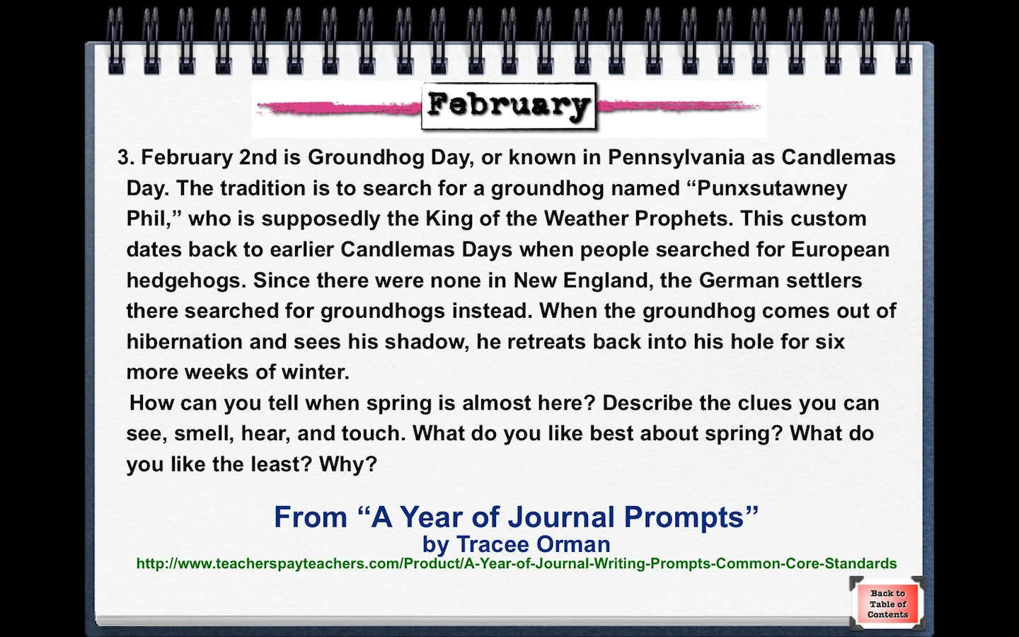 mrs orman s classroom writing prompt for groundhog day groundhog day writing prompt com