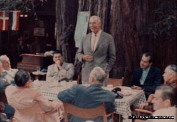 ronald reagon-nixon-glennt at Bohemian Grove
