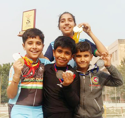Winner of District roller skating competition in Faridabad