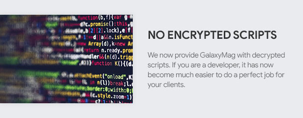 No Encrypted Scripts