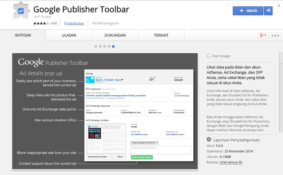 Klik Iklan Adsense sendiri tanpa di banned /suspend? Google Publisher Toolbar solusinya!