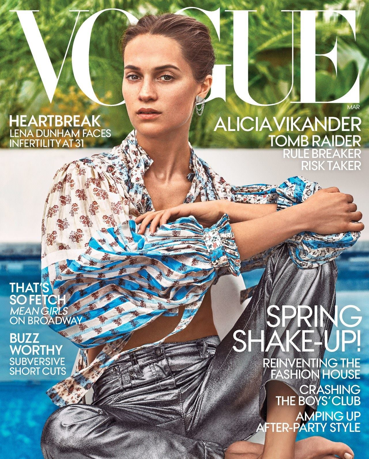 Vogue US March 2018 Alicia Vikander by Steven Klein