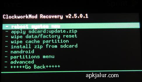 Cara Backup data pada hp android melalui CWM