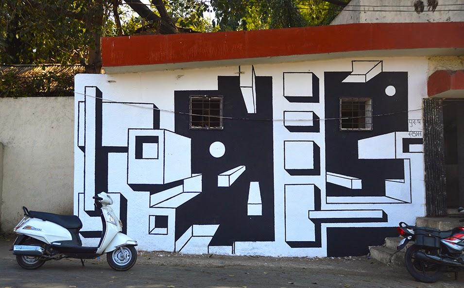 Pune Street Art Project Mural Kasba Peth Indrajit Satbhai