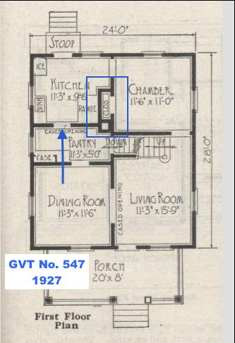 Gordon Van Tine No. 547 floor plan first floor